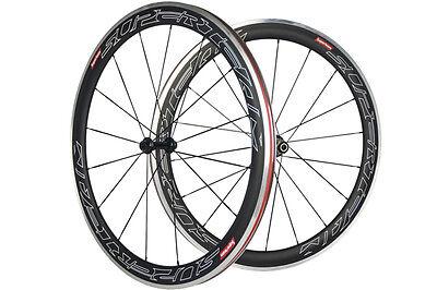 700C 100% Carbon Fiber Wheelset 50mm Clincher Aluminum Braking Surface Wheels