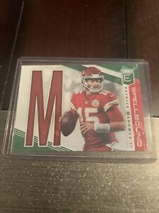 2019-Donruss-Elite-Patrick-Mahomes-Green-Spellbound-M-SP-1-Mint-Free-Ship