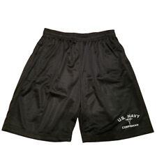 U.S NAVY CORPSMAN Men Athletic Jersey Mesh Black Basketball Shorts M-5XL