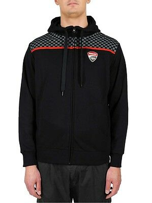 15 26001 New Official Ducati Corse Black Zip up Hoodie