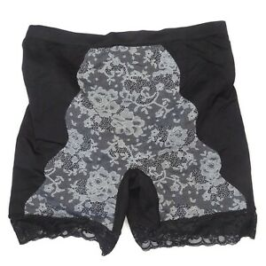 3db0094c985da Rhonda Shear Ahh Seamless Jacquard Shaper Panty 2X Plus Size Black ...