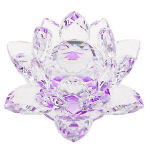 Crystal-Lotus-Ornament-Crafts-Paperweight-Glass-Model-Wedding-Gift-Purple