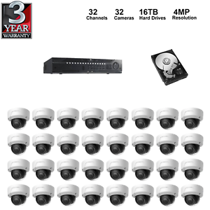 Details about NVR Kit: 32 Channel NVR+16TB HDD+4MP Dome IP Camera,  Hikvision OEM Model for USA