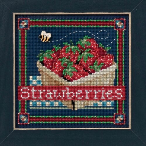 Strawberries Cross Stitch Kit Mill Hill 2016 Buttons /& Beads Spring MH141613