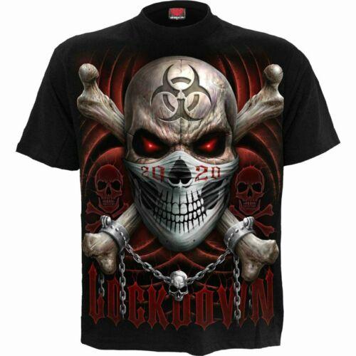 Spiral Direct Lockdown 2020 T-Shirt// Gasmaske// Reaper// Biogefahr// Biker// Tattoo//