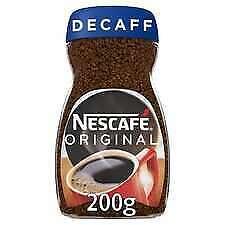 2x NESCAFE ORIGINAL 200G DECAFFEINATED instant coffee