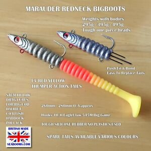 Redneck-Marauder-Lures-Red-Yellow-Cod-Halibut-Coalfish-Norway-Iceland-Shetlands