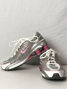 new styles 1c21e 02b9b Image is loading Nike-Shox-Girls-Grey-Pink-Gold-Girl-039-