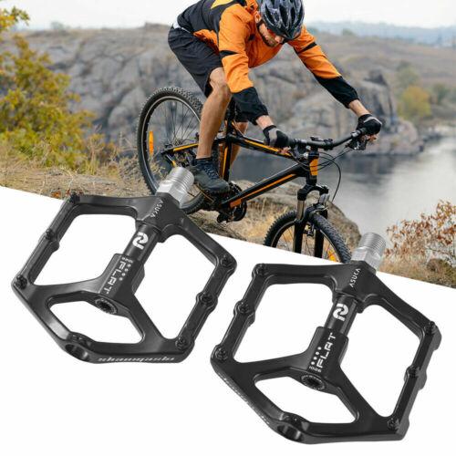 2X Aluminum Alloy MTB Flat Platform Mountain Bike Pedals Bicycle Pedals JL
