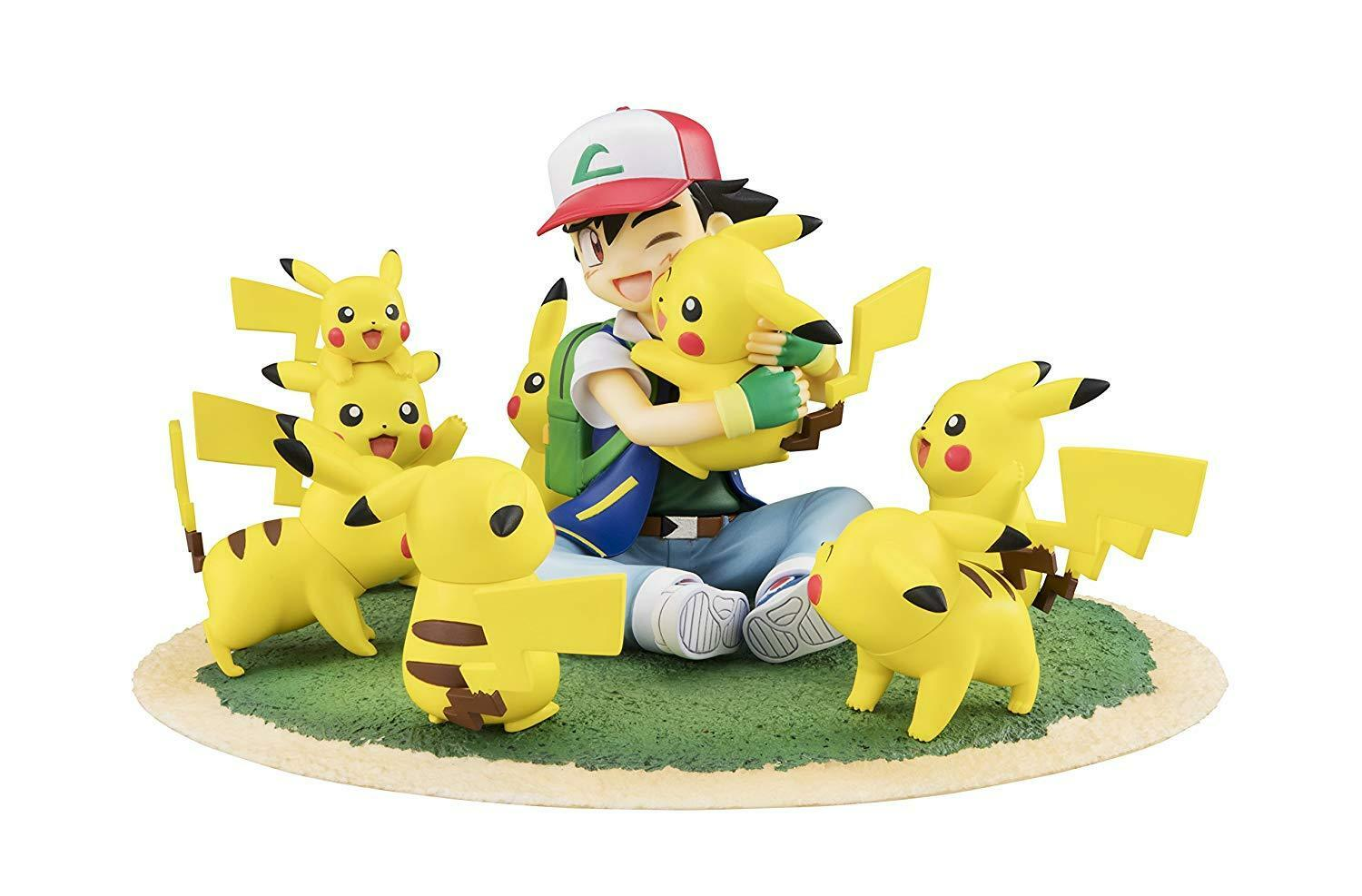 Pokemon Ash & Pikach G.E.M. Series 4.7 4.7 4.7  PVC Painted Toy Figure Anime Collectible e294c1