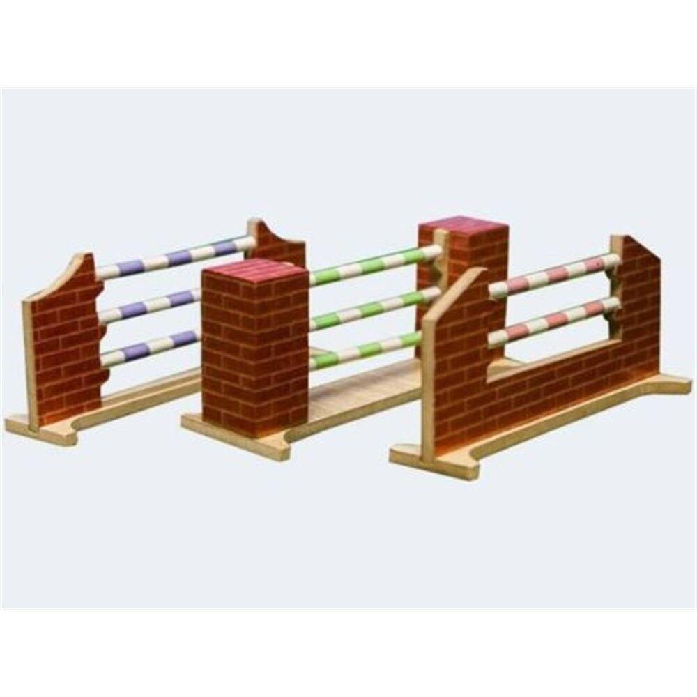 1 24 Horse Horse Horse Jumps 16, 5x6x7cm, 3 Asst. - Kids Globe Farm Three Piece Jump Set 3850b2