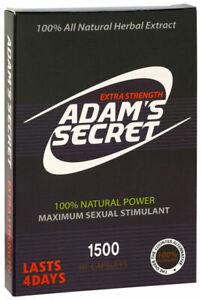 X4 Adam's Secret Male Enhancer Pill Fast Acting Natural Men Enhancement Pills