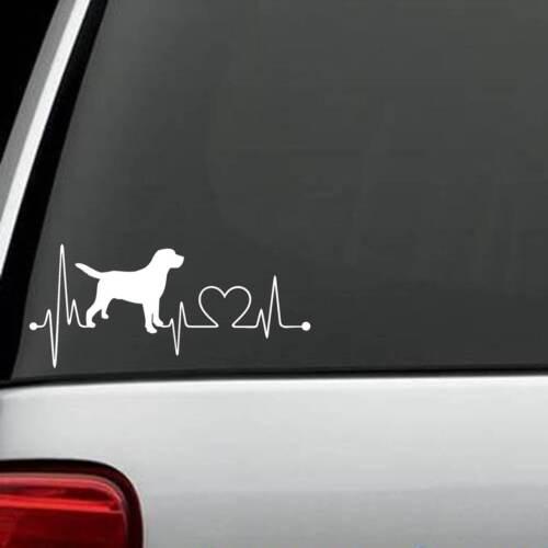 K1003 Labrador Retriever Heartbeat © Love Decal Sticker Truck Car SUV Van Laptop