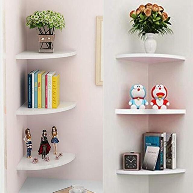 5-tier Corner Bookshelf Storage Cabinet Bookcase Rack Organizer Cd Book Decor New Bathroom Shelves
