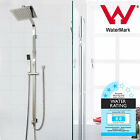 "Budget Square Shower Head Rail Set Rail Double Rose Hand sprayer 8"" 200MM 2 in 1"