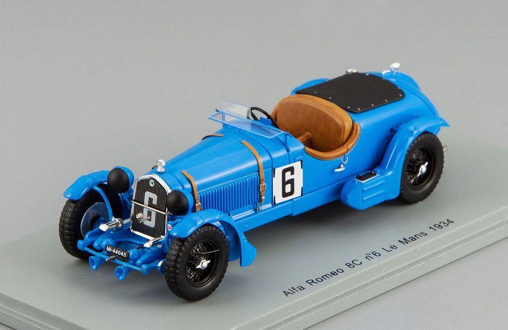 Alfa Romeo 8 C  6 Le Mans 1934 E. Howe-T. Rose Richards Spark 1 43 S3887