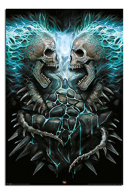Spiral Flaming Spine Poster New Maxi Size 36 x 24 Inch