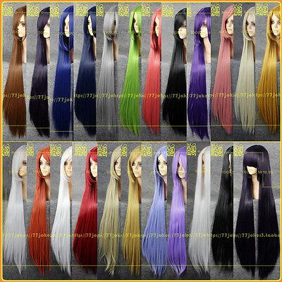 "Heat Resistant Long Hair Straight POP Cosplay Wig 21 Color ""39""""100cm"""