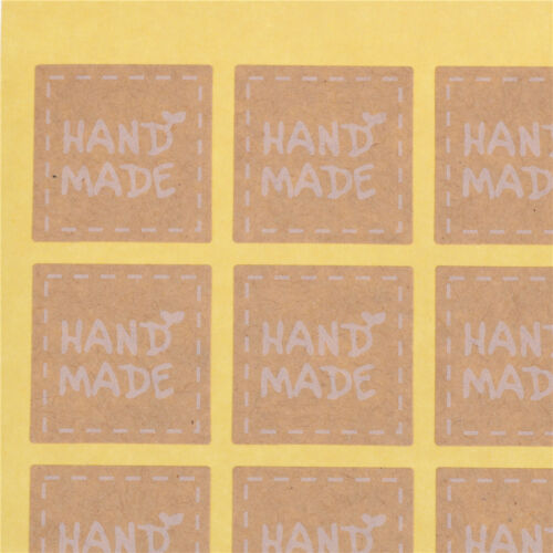200pcs//lot Round Hand Made Kraft Sealing Stickers Paper Labels Gifts Packaging W