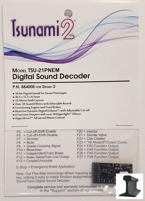 SoundTraxx, New 2019, Tsunami 2, TSU -21 Pin Steam -2, ljudavkodare 888008