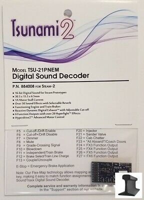 SoundTraxx ~ New 2019 ~ Tsunami 2 ~ TSU-21 Pin Steam-2 ~ Sound Decoder ~  884008 812165023318 | eBay