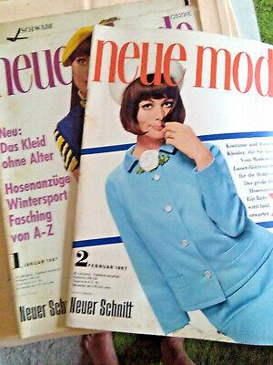 2 X Neue Mode Mit Schnittmuster, 1967