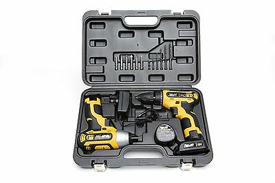 Wolf 18v Lithium Ion Drill Driver & Impact Driver Kit