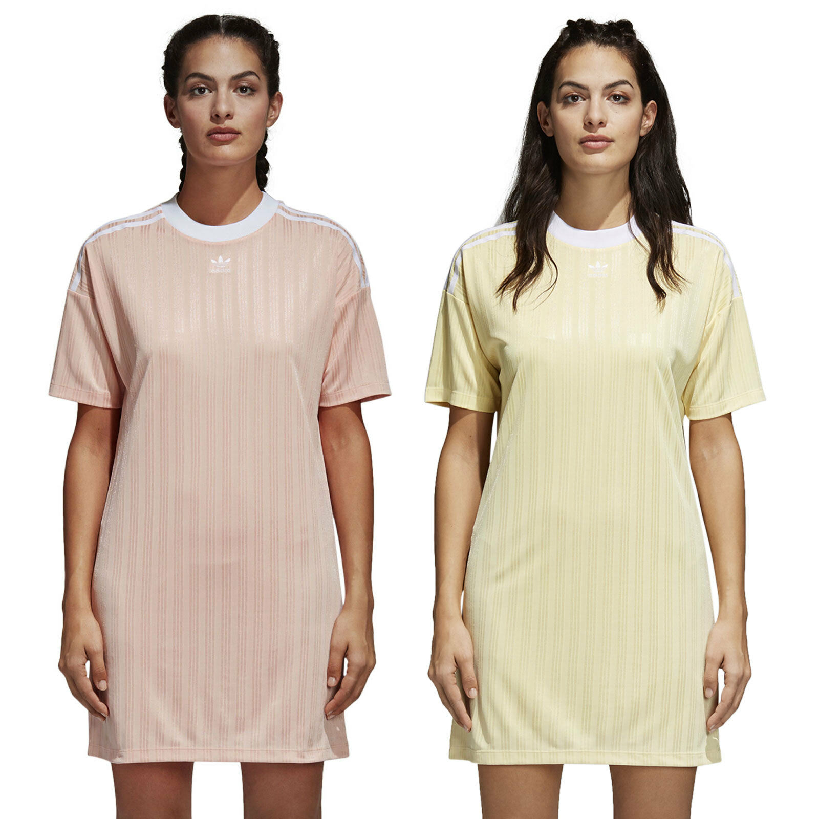 Adidas Originals Trefoil Dress Ladies Dress T-Shirt Mini Summer Dress