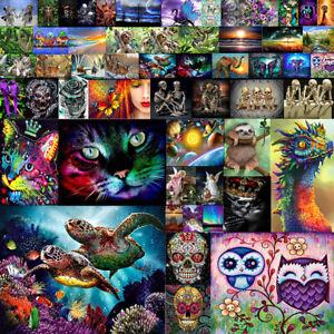 5D Diamond Painting Kit Full Drill DIY Rhinestone Embroidery Cross Stitch Arts Craft for Home Wall Decor Multicoloured Sloth 30x40cm