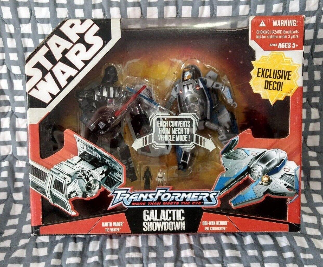 Star - wars - transformatoren darth vader, obi - wan kenobi galaktisches kräftemessen hat viel nib