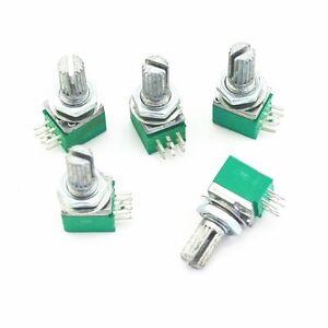 Alpi-5X-15mm-lunghezza-B100K-AMPLIFICATORE-AUDIO-SIGILLATO-DUAL-Potenziometro-6-PIN-RK097G
