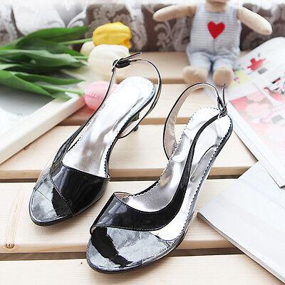 Women's Sandals Mixed Color Mid heels Ankle Strap Pumps Shoes AU All Size s767