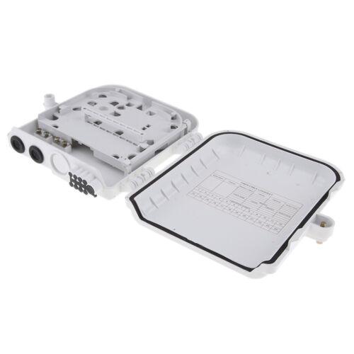 Panel 8Cores FTTH box Wall Outdoor Fiber Optic Terminal Box Splice// Distri