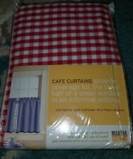 Martha Stewart Swag Curtains 4 Pair Red Check W Rick Rack Edge Panels 31wx36l For Sale Online Ebay
