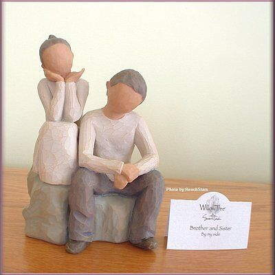 BROTHER AND SISTER FIGURINE FROM WILLOW TREE® ANGELS FREE U.S. SHIPPING