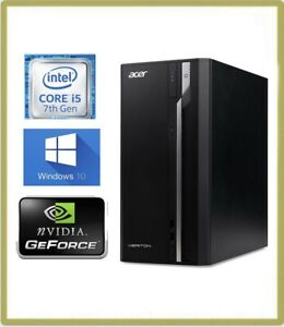 Acer-Veriton-S2710G-MT-PC-Quad-i5-7400-3-00GHz-8GB-1TB-Windows-10-GT-710-1BAV