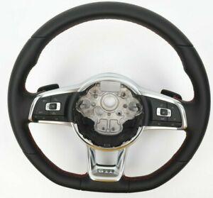 2G-VW-GTI-Leder-Lenkrad-Multifunktion-DSG-Wippen-Naht-Rot-2G0419091-CK-NEU