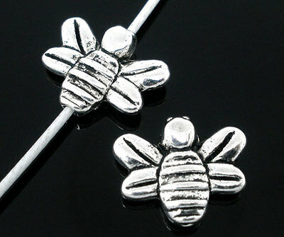 15 SILVER TONE HONEY//BUMBLE BEE CHARM//SPACER BEADS ~14x12mm~Jewellery~Jams 74F