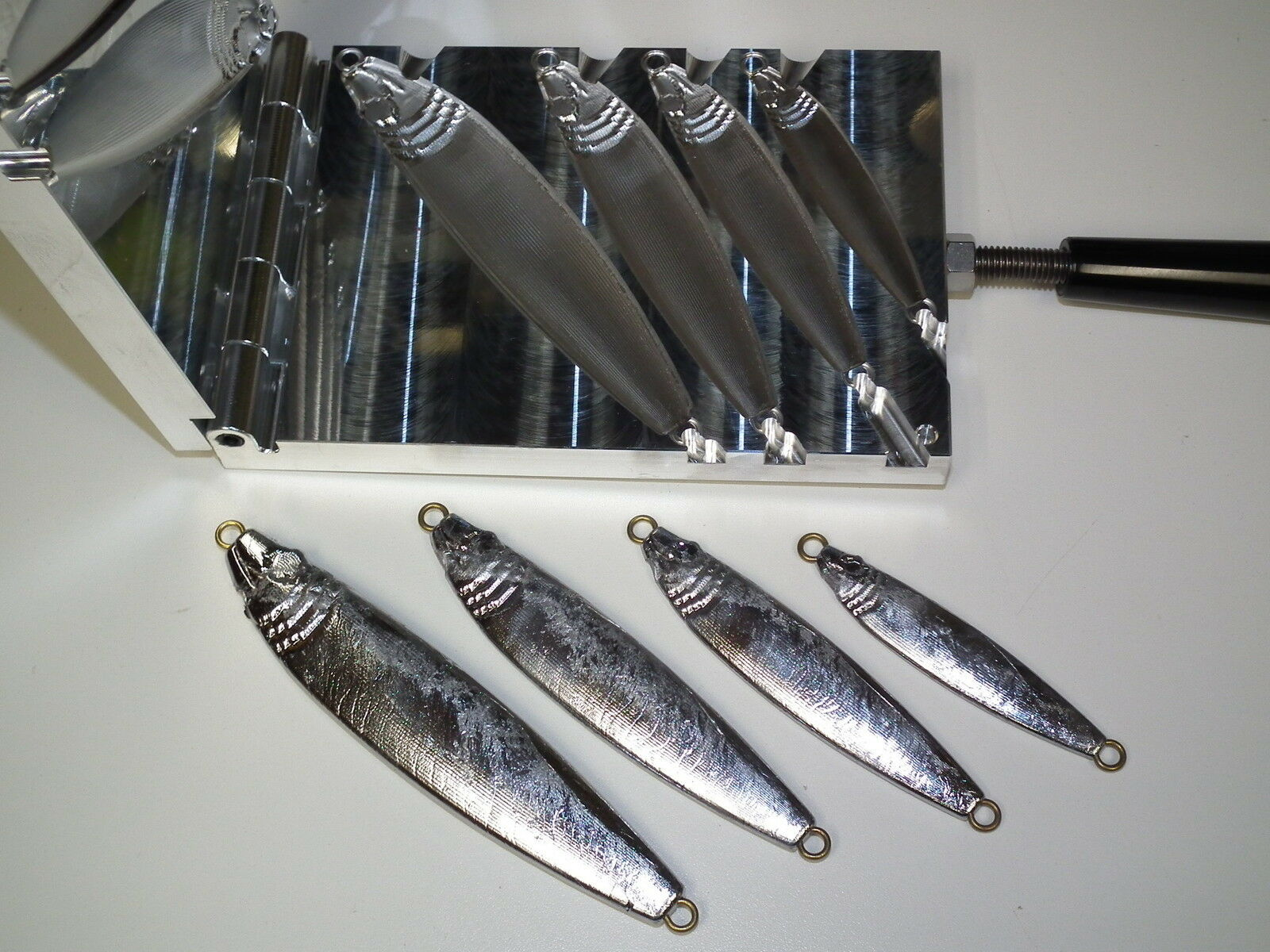 Saltwater Fish Jig -2.2 mold 2,4,6,8oz CNC Aluminum