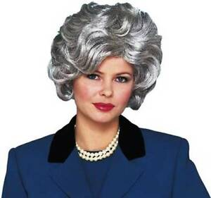 Details about 1950S 50 S ADULT WOMENS SILVER GREY SHORT WAVY CLASSY OLD  LADY COSTUME WIG 394fbd0a4f