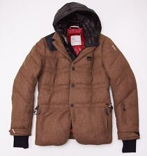 $2375 MONCLER GRENOBLE  Tweed Wool Hooded Down Jacket Sz 3 (M) Double Layered