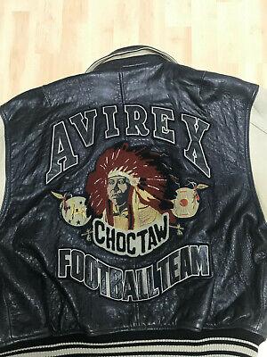 Avirex VIntage Choctaw Football Team Jacke sehr selten USA NEW YORK Größe M | eBay