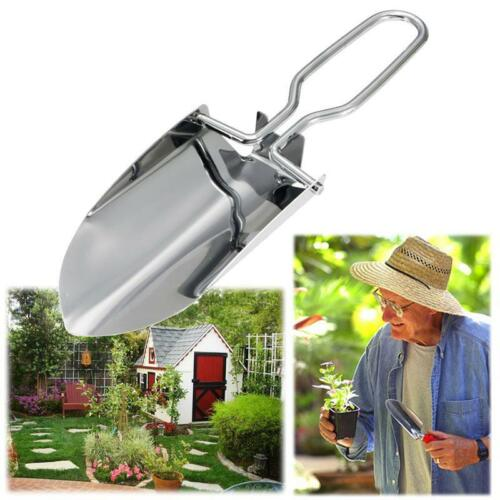 Mini Gardening Stainless Steel Folding Shovel Trowels Portable Camping Hand Tool