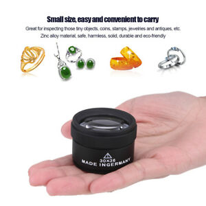 Jewelry-Optical-Magnifier-Glasses-30x-Magnifying-Lens-Jeweler-039-s-Loupes-Tools-Kit