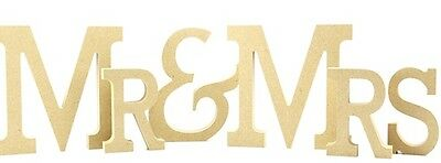 Mr /& Mrs 18mm Mdf Freestanding Sign Mr And Mrs 15cm High Craft Blank Unpainted
