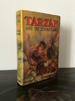 EDGAR RICE BURROUGHS, TARZAN AND THE LEOPARD MEN, 1ST/1ST, SIGNED AND INSCRIBED