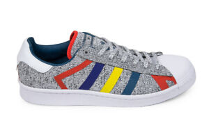 cheaper 20025 8be85 Details about Adidas Originals x White Mountaineering Superstar in Light  Grey/Multi AQ0352