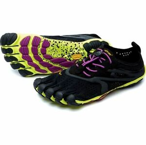 Vibram Scarpe Sportive Fivefingers V-run Black Yellow Purple 39
