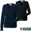 RUSSELL COLLECTION LADIES V-NECK KNITTED PULLOVER JUMPER SMART CLASSIC FIT SIZES