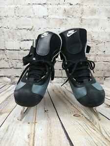 NIKE-Women-039-s-Grey-Black-Ice-Skates-Size-7